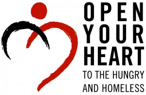 Open Your Heart to the Hungry and Homeless - logo